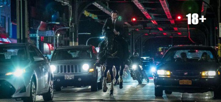 """Джон Уик 3"" (2019) - Киану ривз - Обложка на коне 18+ - ""Централ Партнершип""."