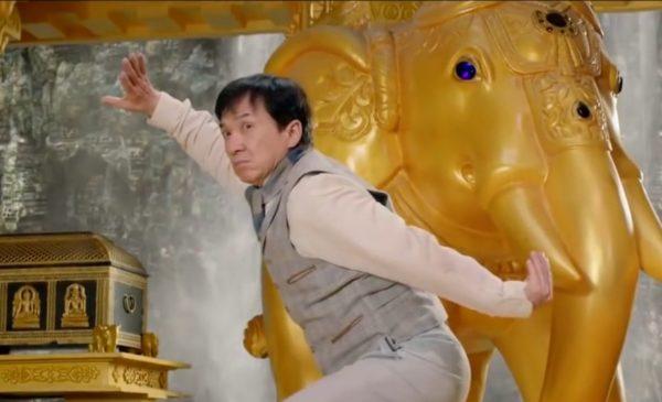 Джеки Чан в «Доспехи бога: в поисках сокровищ»