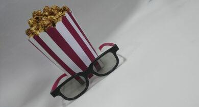 Попкорн и очки - Хэнд мэйд.